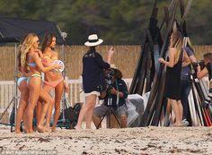 Lily Aldridge, Behati Prinsloo, Alessandra Ambrosio and Candice Swanepoel  in Puerto Rico #somethingbigiscoming for Victoria's Secret swim 2015
