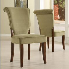 Andorra Sage Velvet Upholstered Dining Chair (Set of 2) by iNSPIRE Q Classic #iNSPIREQ #DiningChairs