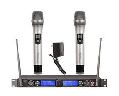 GTD Audio G522H 2x100 Channel UHF Professional Wireless microphone Mic System  Metal Mic Silver   -- Read more at the image link.