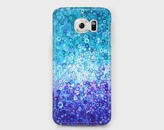 Blue abstract Samsung phone case