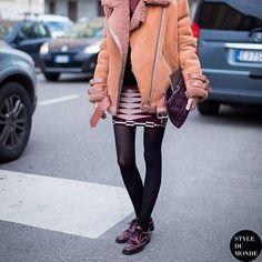 #New on #STYLEDUMONDE  http://www.styledumonde.com  with @christianssonparis #CarolineChristiansson at #milan #fashionweek #mfw #fw14 #acne #outfit #ootd #streetstyle #streetfashion #streetchic #snobshots #streetlook #fashion #mode #style #Padgram