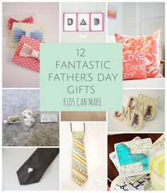 Great father's day crafts and gift ideas handmade from kids.