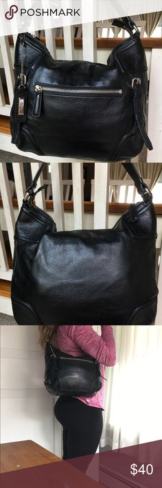 18f1ca7f8b Cole Haan Black Leather Purse 💜 Beautiful COLE HAAN black leather shoulder  purse. Excellent
