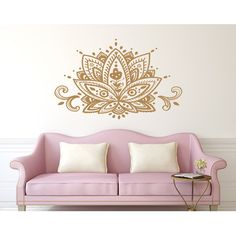 Decal House Mandala Lotus Flower Wall Decal Color: White