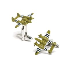 Army Plane Cufflinks finished in a glossy green enamel finish with great attention to detal. All In One, Take That, Free Black, Armed Forces, Army Green, Plane, Aviation, Cuffs, Cufflinks