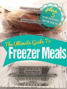 Save yourself some time and energy by throwing together some freezer meals for those busy nights. Via The Happy Gal