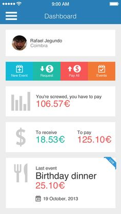 Payup app UI design the monst beatyfull i didn't saw before.