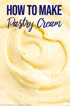 Delicious thick and creamy this easy recipe for pastry cream is the perfect filling for pastries and cakes Vanilla beans make this Creme Patissiere extra special and beautiful Use it in tarts cakes profiteroles or napoleons Baked Custard Recipe, Custard Recipes, Cream Recipes, Recipe For Custard Filling, Vanilla Creme Cake Recipe, Pastry Cream Filling Recipe, French Pastry Cream Recipe, Custard Cream Recipe, Cream Puff Filling