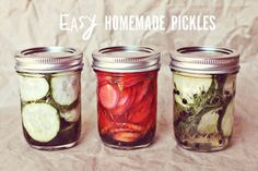 Easy Homemade Pickles Recipe - (put hot sauce in for spicy pickles mmm)
