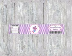 Abby Cadabby Water Bottle Label by SimplyAdorableStudio on Etsy