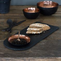 Copper & Slate Serving Set -