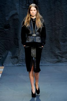 fur and leather wear Hermes PFW Fall 2012