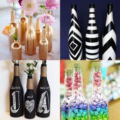DIY: garrafas na decoração