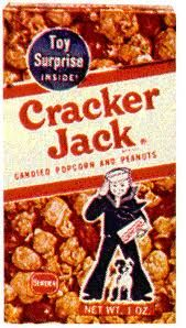 Cracker Jacks.  They had fake tattoos, rings, or match box cars inside.