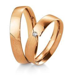 Breuning Trouwringen | Inspiration collectie gouden ringen | 4,5mm briljant 0.02ct verkrijgbaar in 8,14 en 18 karaat | 48041290 / 48041300 OOK in geel en wit goud verkrijgbaar