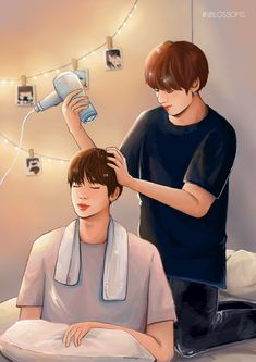 [FA] 小確幸。 every moment spent with you~♡ #jin #jungkook #bts ship #bts fanart #jinkook #bts #jeongguk #seokjin #kookjin #kpop #bangtan