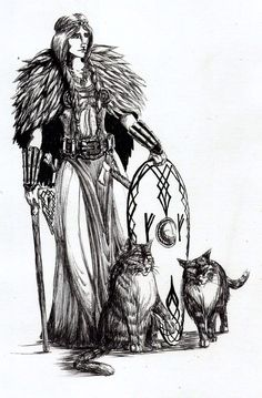"""In Norse mythology, Freyja (/ˈfreɪə/; Old Norse for """"(the) Lady"""") is a goddess associated with love, sexuality, beauty, fertility, gold, seiðr, war, and death."""
