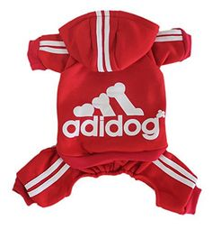 Scheppend Adidog Pet Clothes for Dog Cat Puppy Hoodies Coat Winter Sweatshirt Warm Sweater,Red Large - http://www.thepuppy.org/scheppend-adidog-pet-clothes-for-dog-cat-puppy-hoodies-coat-winter-sweatshirt-warm-sweaterred-large/
