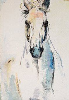 "Daily Paintworks - ""Blue Boy"" - Original Fine Art for Sale - © Charlotte Cox Watercolor Horse, Watercolor Animals, Arte Equina, Horse Artwork, Cowboy Art, Horse Drawings, Art Abstrait, Animal Paintings, Horse Paintings"