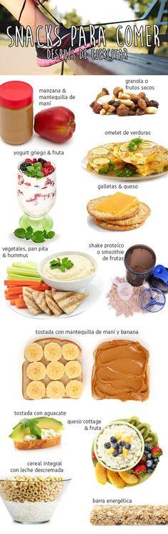 13 snacks que puedes comer después de ejercitar