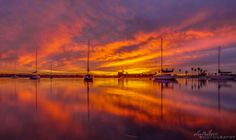 Alex Baltov Photography at Mission Bay  -   This morning's cotton candy sunrise on Mission Bay 1/21/2014