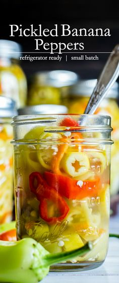 Super quick, refrigerator Pickled Banana Peppers or Hungarian Wax Peppers are a fabulous component to sandwiches, pizza, salads and for general snacking. These pickled peppers are small batch and refrigerator ready! Canned Banana Peppers Recipe, Sweet Banana Peppers, Canning Banana Peppers, Stuffed Banana Peppers, Stuffed Sweet Peppers, Pickling Peppers, Refrigerator Pickled Banana Peppers Recipe, Fried Banana Peppers, Wax Pepper Recipe