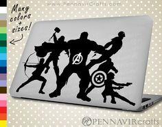 Avengers Macbook / Laptop Decal - Avengers Logo lights up over Macbook Apple! Macbook Skin, Macbook Laptop, Laptop Decal, Laptop Skin, Lighting Logo, Marvel, Stickers, Light Up, Avengers