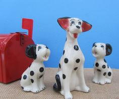 "Disney Figurines Dalmatian Dog Set Rare ""101 Dalmatians"" Pongo and Puppies Vintage Ceramic Puppy Figures Disneyana Collectible Art Gift Idea by WillowValleyVintage on Etsy"