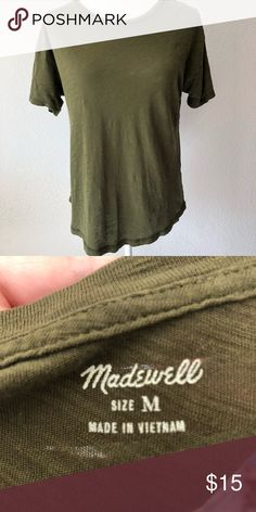 "68c6a2bf0e Madetee Tee Madewell green medium 24"" length pit 20"" Madewell Tops Tees -  Short"