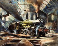 Fine Art Prints of Railway Scenes & Train Portraits - Alberta at Holbeck by Geoff Knight