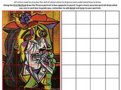 Picassob student art worksheets - Google Search