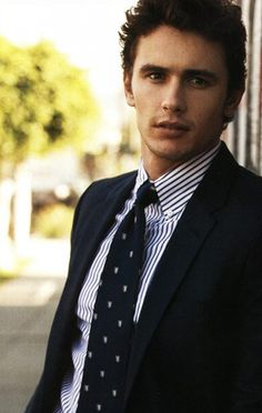 James Franco. Quirky and highly educated. Together with his boyish grin, he's a dangerous combo.
