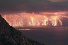 70 lightning shots, taken at Ikaria island during severe thunderstorm.  https://www.facebook.com/saveourgreen