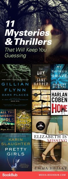 11 mysteries and thriller books that will keep you guessing. Including plenty of twists, suspense, and unsolved crimes. Don't miss these unputdownable books.