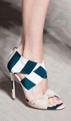 Zipper heels on the Matthew Williamson runway at London Fashion Week.