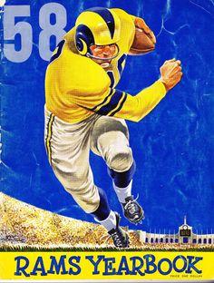 1958 Los Angeles Rams Official Yearbook w Rookie K C Jones Celtics St Louis   a50800f47