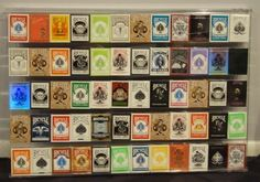 60 Deck Acrylic Bicycle Playing Card Display in Clear by Bmpokerworld. $149.99. This display was specifically designed for playing cards. Each display can hold up to 60 decks of standard size playing cards from many brands; Bicycle, Bee, Aviator, Aladdin, Rambler, Copag, Carta Mundi, Gemaco, Tally Ho and many many more.  Clear in color  PLEASE NOTE: PLAYING CARDS ARE NOT INCLUDED AND ARE ONLY SHOWN SO THE BUYER WOULD KNOW WHAT A FULL DISPLAY WOULD LOOK LIKE