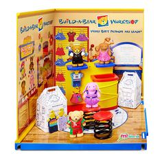 The miWorld Starter Environment set is the perfect intro to miWorld featuring Sprinkles Cupcakes, OPI Nail Salon and Dairy Queen Restaurant. So cute and tiny and you won't believe how detailed and realistic every set is! When assembled, each Deluxe Set is 7.5 inches wide and includes 2 walls, 1 floor, 1 sticker sheet and over 25 accessories for girls to build and customize. All sets in miWorld snap together allowing kids to connect stores vertically or horizontally and build their dream…