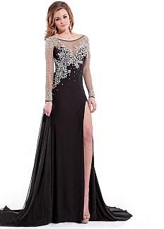 Stunning Tulle & Chiffon Bateau Neckline Floor-length Sheath Prom Dress. Enjoy thrilling discounts up to 60% Off at Dressily using Coupon and Promo Codes.