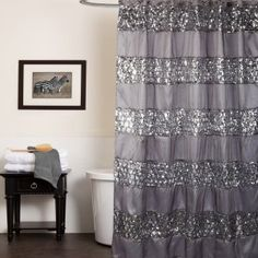 Good Brown Bling Shower Curtain