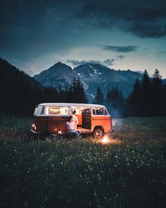 # bergün # graubünden ❤️🇨🇭❤️ Share your photos on reg … - Van Life Wolkswagen Van, Kombi Home, Camping Photography, Adventure Photography, Lifestyle Photography, Wanderlust, Travel Aesthetic, Outdoor Travel, Van Life