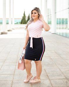 Cute Dresses & Tops - Clothing for Women Curvy Girl Outfits, Curvy Women Fashion, Look Fashion, Cute Outfits, Fashion Outfits, Womens Fashion, Plus Size Summer Outfit, Plus Size Outfits, Tartan Skirt Outfit