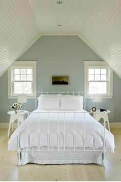Stylish attic bedroom-paint scheme for Gracie's room??