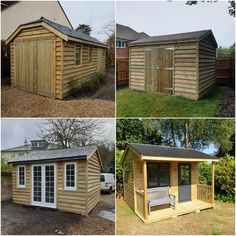 Garden Pods, Timber Buildings, Garage Workshop, Up And Running, Garages, Shed, Take That, Outdoor Structures, Traditional