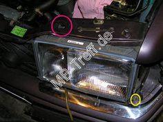 Tipps-tricks   Mercedes 200D - 500E (w124)   Ausbau der Scheinwerfer: Bild 3