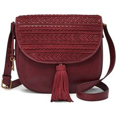 Fossil Emi Large Saddle Bag ($198) ❤ liked on Polyvore featuring bags, handbags, shoulder bags, leather handbags, leather cross body purse, saddle bags, leather crossbody handbags and leather crossbody