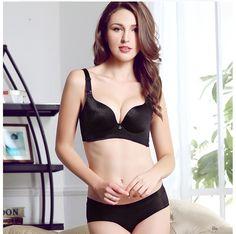 13532725b5 sexy-black-wireless-push-up-bra-sets
