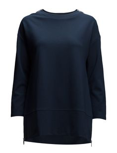 DAY Easy Zip details Detailed hemline Drop shoulder seams Round collar Shoulder detailing Excellent quality and fit Innovative Practical Simple Top White Day, Hemline, Round Collar, Sweatshirts, Easy, Sweaters, Drop, Shopping, Clothes