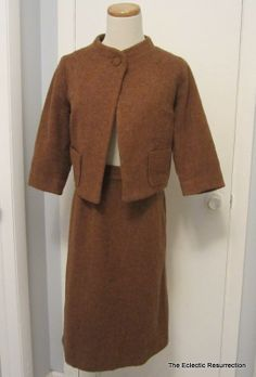 Vintage 1960s Wool Suit Pencil Skirt & Jacket New Look by linbot1, $30.00