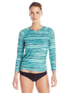 412c7785862 Kanu Surf Women s UPF 50+ Long Sleeve Active Swim Tee and Workout Top New  Large